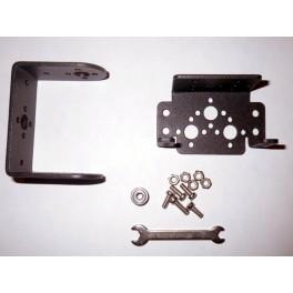 Tourelle en aluminium à 2 axes (pan-tilt) pour servomoteurs