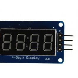 Afficheur 4 chiffres à segments LED avec driver I2C