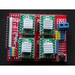 Shield Arduino CNC imprimante 3D + 4 drivers A4988