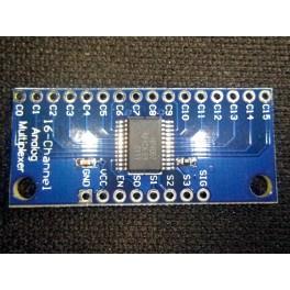 Multiplexeur analogique MUX 16 canaux CD74HC4067