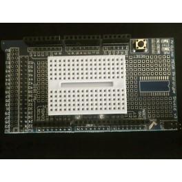 Shield de prototypage Arduino Mega + mini breadboard.