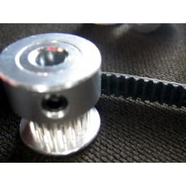 Kit courroie plate crantée GT2 et 10 pignons dentés