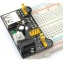 Kit plaquette d'essai (breadboard) + alimentation + 65 câbles