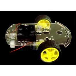 Chassis de robot + 2 moteurs + disque encodage + porte piles