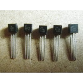 Transistor NPN type 2N2222 TO-92 (x5)