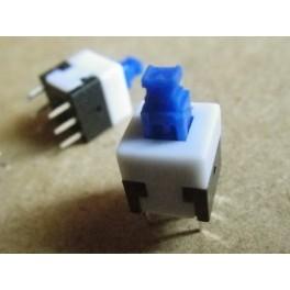Lot de 4 mini interrupteurs carrés de 8 mm avec auto -verrouillage