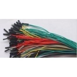 40 câbles de connexion Dupont femelle-femelle 20 cm