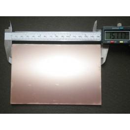 Plaque de cuivre pour gravure de circuit imprimé une face 10 x 15 cm