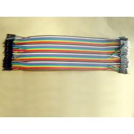 40 cables de connexion Dupont male - femelle