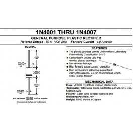Lot de 5 diodes 1N4007