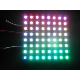 Matrice de 8x8 LED adressables individuellement WS2812