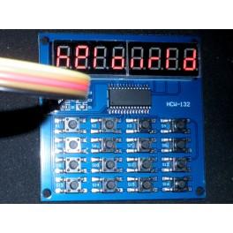 Module TM1638 afficheur à 8 chiffres et 16 boutons