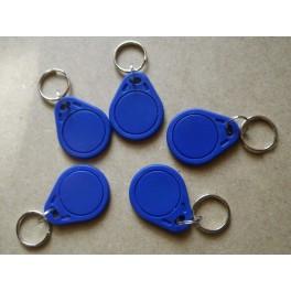 5 porte-clés badges d'identification individuelle RFID