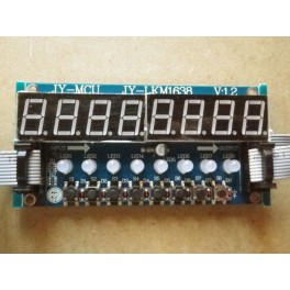 Module 8 chiffres 7 segments + 8 boutons + 8 led bicolores